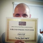 Showing of my Grand Prize certificate!